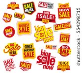 sale tags. sale banners set.... | Shutterstock .eps vector #554298715