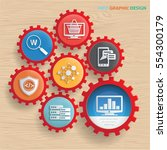 data analysis concept design...   Shutterstock .eps vector #554300179
