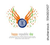 republic day | Shutterstock .eps vector #554301937