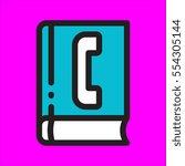 phonebook icon flat deisgn