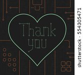 thank you day greeting card.... | Shutterstock .eps vector #554305471