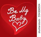 valentine's day card | Shutterstock .eps vector #554308504