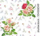 floral square seamless pattern  ... | Shutterstock . vector #554308549