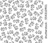 seamless pattern with branches. ... | Shutterstock .eps vector #554310901