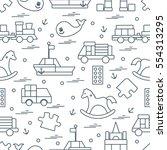 vector illustration kids toys...   Shutterstock .eps vector #554313295