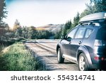 car for traveling with a... | Shutterstock . vector #554314741