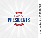 happy presidents day vector... | Shutterstock .eps vector #554318881