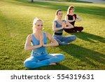 a group of adult women... | Shutterstock . vector #554319631