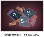 business concepts  paper clips... | Shutterstock .eps vector #554319847