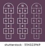 hopscotch childrens game drawn... | Shutterstock .eps vector #554323969
