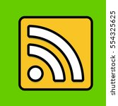 rss feed icon flat design