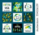 brazil carnival. bright festive ... | Shutterstock .eps vector #554326159