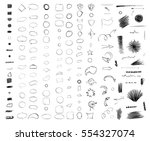 pencil sketches. hand drawn... | Shutterstock .eps vector #554327074