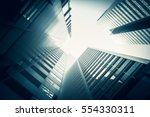 low angle view of skyscrapers | Shutterstock . vector #554330311