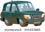 muddy off road vehicle. global...   Shutterstock .eps vector #554335885