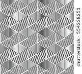 vector pattern design geometric ... | Shutterstock .eps vector #554338351