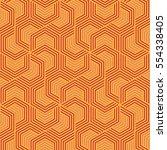 vector pattern design geometric ... | Shutterstock .eps vector #554338405