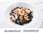 Squid Ink Fettuccine. Spicy...