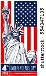 statue of liberty  nyc  usa... | Shutterstock .eps vector #554347135