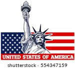 statue of liberty  nyc  usa... | Shutterstock .eps vector #554347159