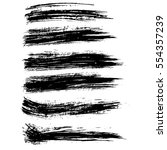 ink vector brush strokes.... | Shutterstock .eps vector #554357239