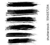 ink vector brush strokes.... | Shutterstock .eps vector #554357254