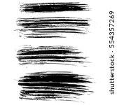 ink vector brush strokes.... | Shutterstock .eps vector #554357269