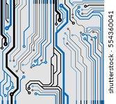 vector circuit board... | Shutterstock .eps vector #554360041