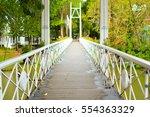 white bridge in brookside...   Shutterstock . vector #554363329