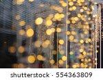 beautiful bokeh background for... | Shutterstock . vector #554363809