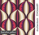 pattern of geometric shapes.... | Shutterstock .eps vector #554366689