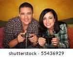 Attractive Hispanic Couple...