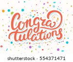 congratulations. greeting... | Shutterstock .eps vector #554371471