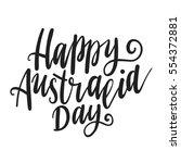 inscription happy australia day ... | Shutterstock .eps vector #554372881