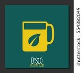 tea and coffe cup vector icon. | Shutterstock .eps vector #554382049