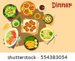 popular appetizers icon of... | Shutterstock .eps vector #554383054