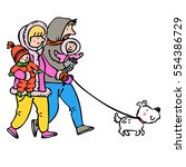 family. baby. pet. dog. graphic ... | Shutterstock .eps vector #554386729