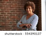 head and shoulders portrait of... | Shutterstock . vector #554390137