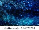 digital abstract technology... | Shutterstock . vector #554390734