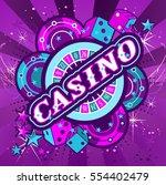 casino party vector game of...   Shutterstock .eps vector #554402479