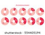 vector percentage infographics. ... | Shutterstock .eps vector #554405194