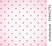 hearts polka dot pattern with... | Shutterstock .eps vector #554411791
