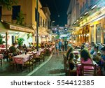 athens august 22  street with... | Shutterstock . vector #554412385