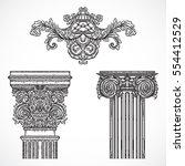 vintage architectural details... | Shutterstock .eps vector #554412529