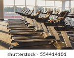 modern gym interior with... | Shutterstock . vector #554414101