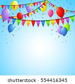 happy birthday background with... | Shutterstock .eps vector #554416345