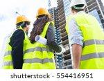 construction engineers or... | Shutterstock . vector #554416951