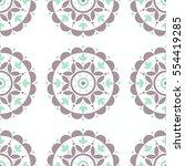 boho style indian mandala...   Shutterstock .eps vector #554419285