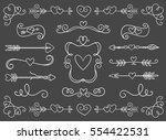 collection of hand drawn... | Shutterstock .eps vector #554422531
