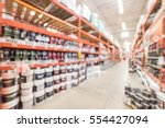 blurred large hardware store in ... | Shutterstock . vector #554427094